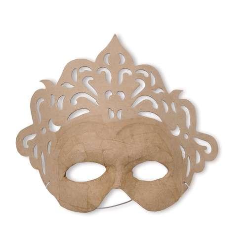 DÉCOPATCH Maske Karneval Pappfigur