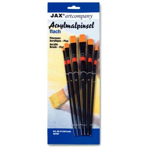 Set de pinceaux acrylique JAX® artcompany, plats