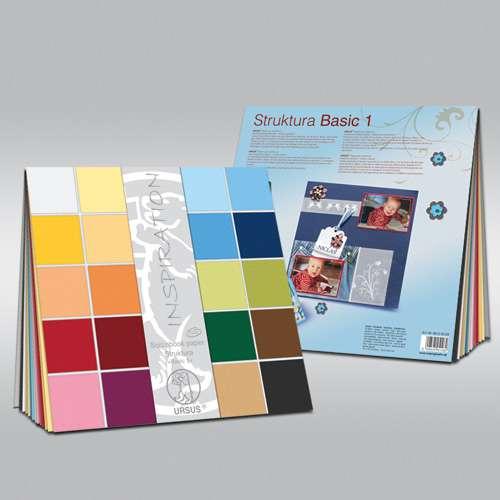 "URSUS® Struktura ""Basic 1 und 2"" Scrapbook paper, Sortiment"