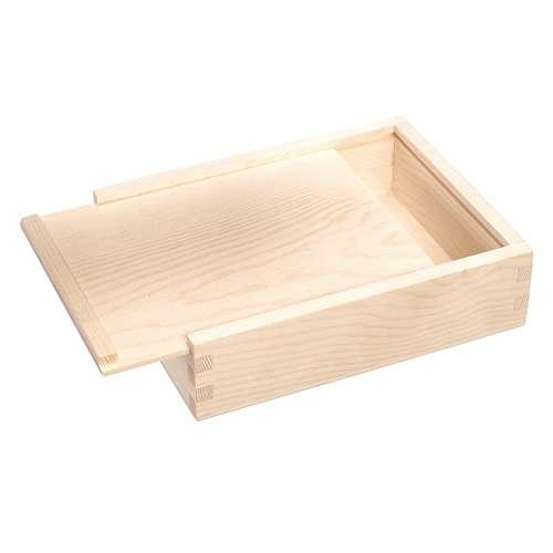 Boîte en bois couvercle coulissant