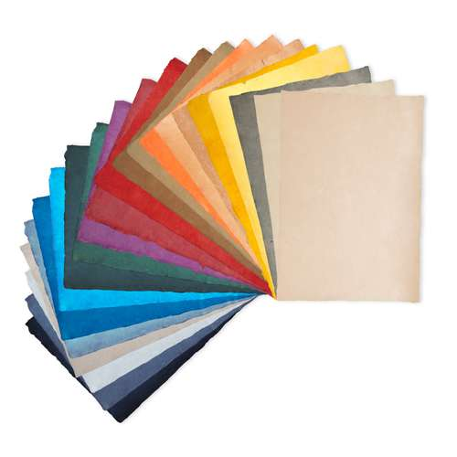 Papier de couleur à bords frangés HIMALAYA
