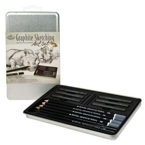 Royal & Langnickel Small Tin - Graphite Sketching Set Grafit-Zeichenset