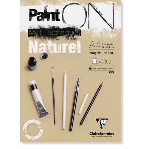 CLAIREFONTAINE Paint ON Naturel Karton