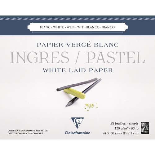 CLAIREFONTAINE Ingres Pastellblock, weiß