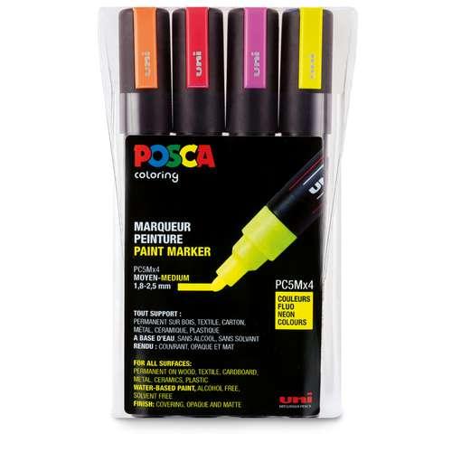 UNI POSCA Marker-Set PC-5M, Neon