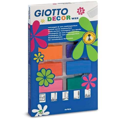 Coffret de 12 pastels carrés Decor Wax Giotto
