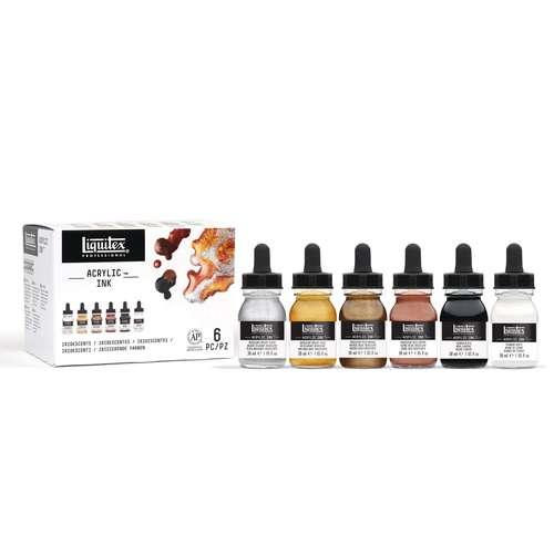 LIQUITEX Ink Colour-Sets, 6 x 30 ml