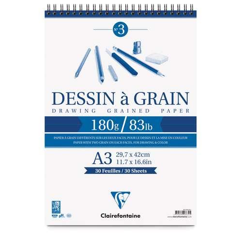 "CLAIREFONTAINE ""Dessin à Grain"" Spiralblock"