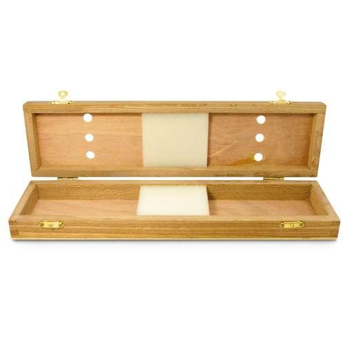 Coffret vide Brushbox pour pinceaux (en bois)