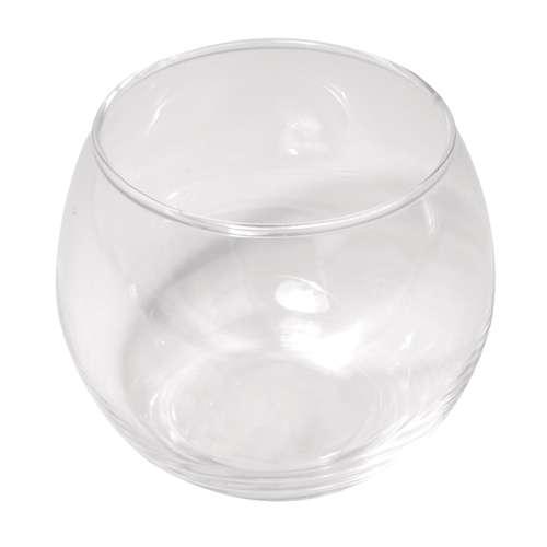 Glasgefäß rund
