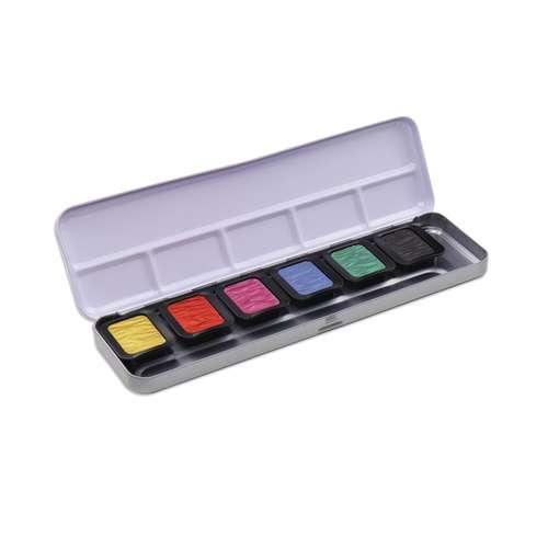 FINETEC Premium Farbkästen Perlglanzfarben + Metallglanzfarbe